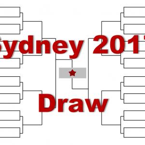 シドニー「アピア国際シドニー」2017年トーナメント表(ドロー)結果あり:ティーム出場