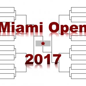 「マイアミ・オープン」2017年トーナメント表(ドロー)結果あり:錦織圭、フェデラー、ナダル出場