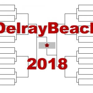 「デルレイビーチ・オープン」2018年トーナメント表(ドロー)結果あり:ソック・デルポ・ラオニッチ他出場