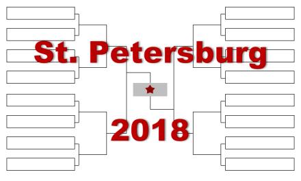 「サンクトペテルブルク・オープン」2018年トーナメント表(ドロー)結果あり