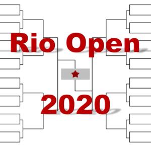 「リオ・オープン」2020年トーナメント表(ドロー)結果あり:ティーム・チョリッチ他出場