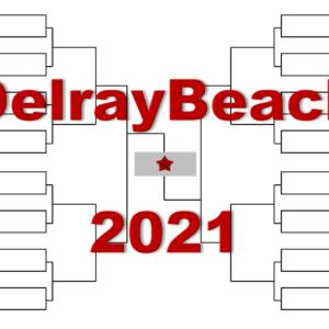「デルレイビーチ・オープン」2021年トーナメント表(ドロー)結果あり・全出場選手:ガリン・イズナー他出場